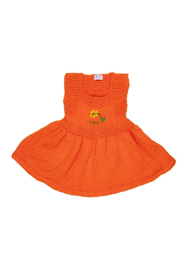 Vestido tejido a mano anaranjado - Alize foto 1