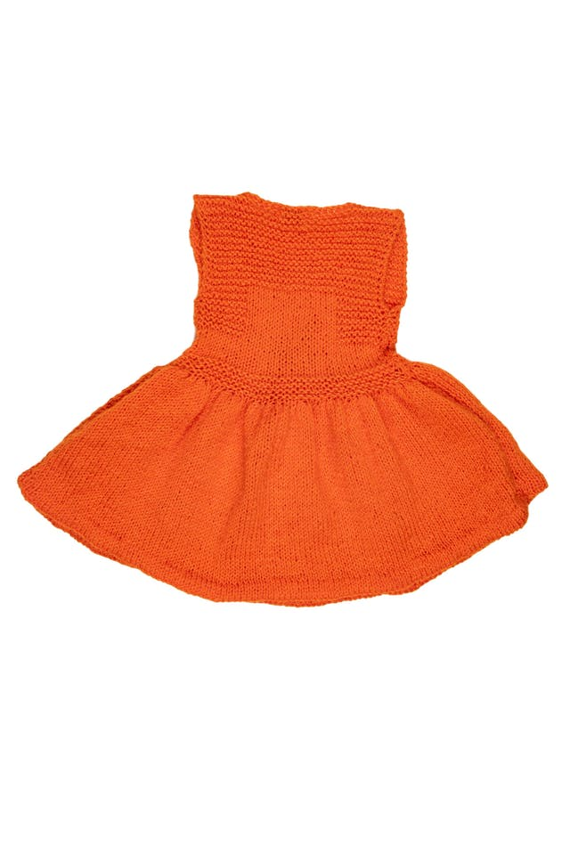 Vestido tejido a mano anaranjado - Alize foto 2