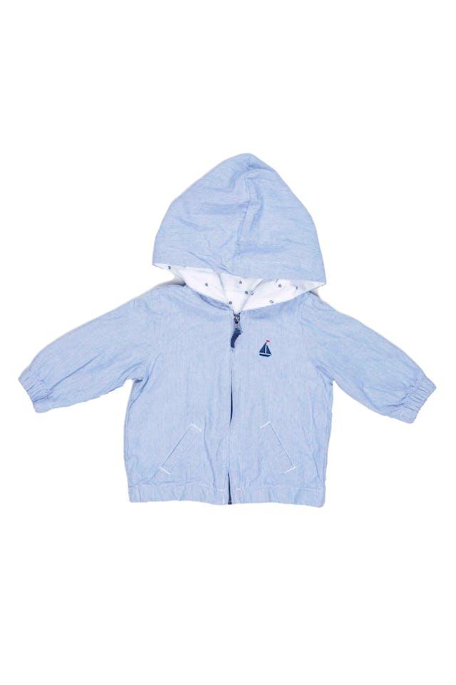 Casaca a rayas 100% algodón, forrada con tela de barquitos, cintura elástica. Talla 6 en etiqueta. Tiene una manchita a la altura del cierre - Sin Marca foto 1