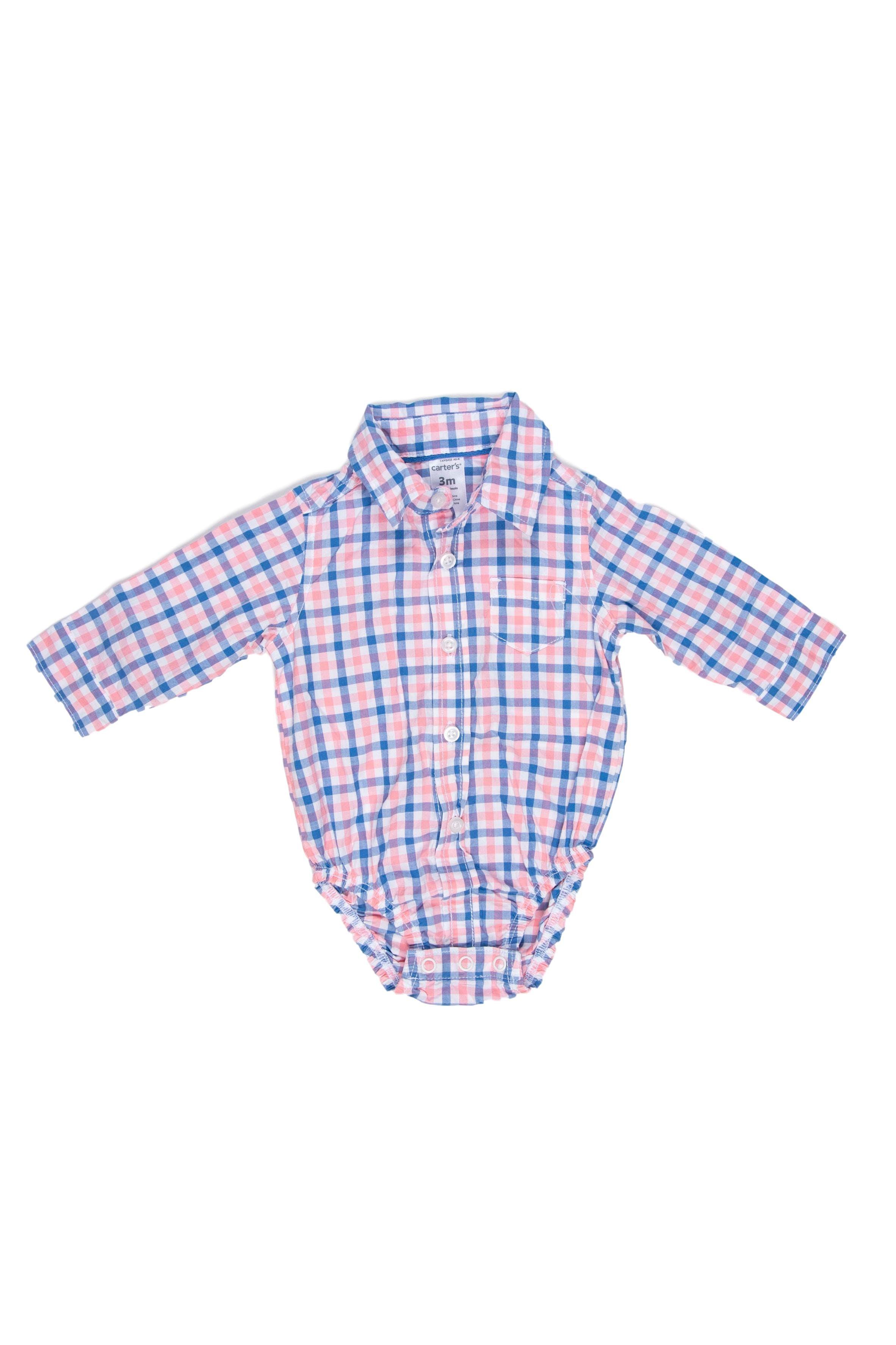 Body camisa a cuadros 100% agodón - Carter's