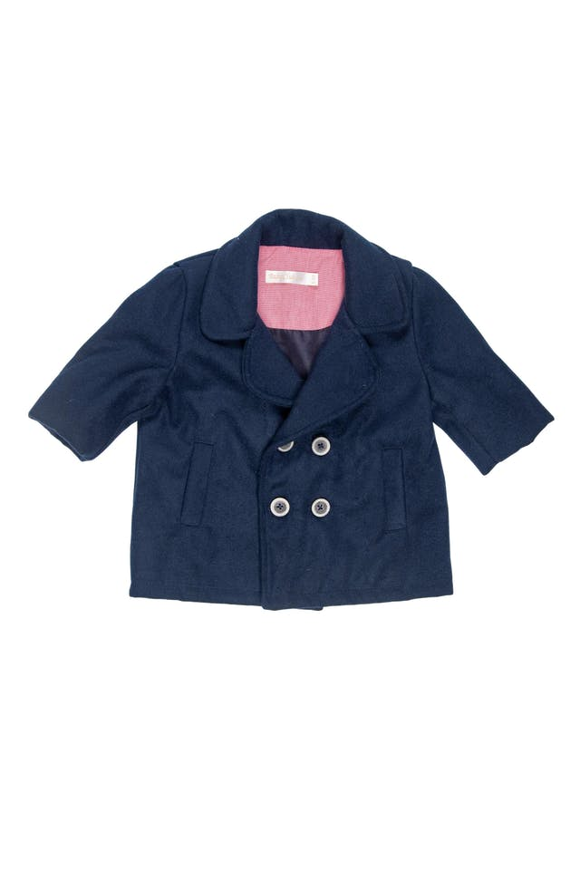 Abrigo azul de paño forrado - Baby Club Chic foto 1