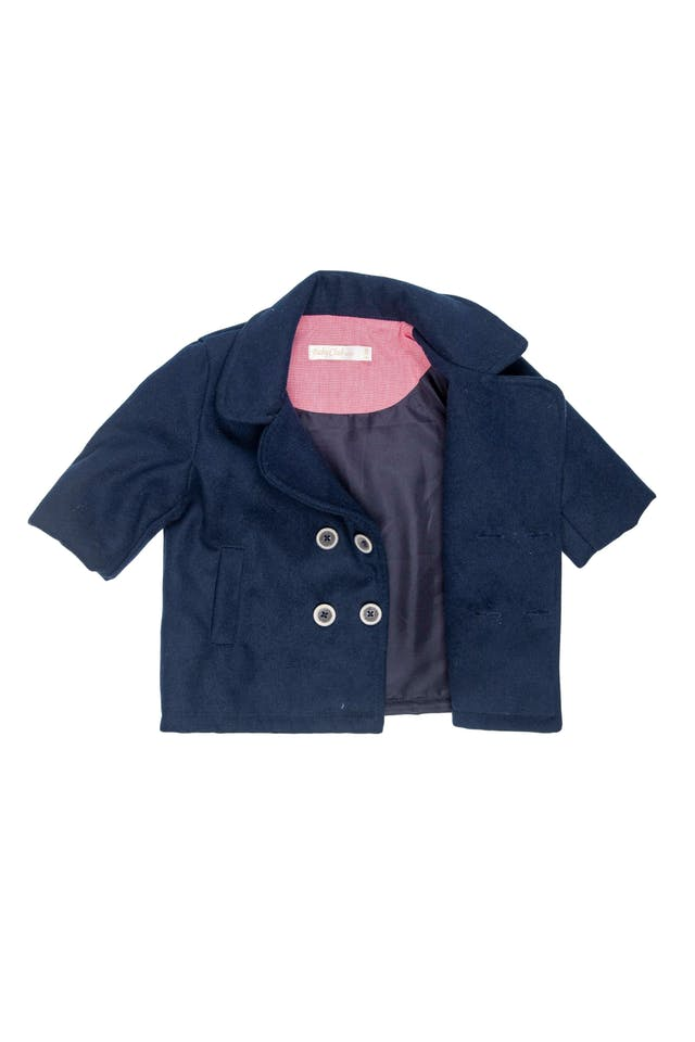 Abrigo azul de paño forrado - Baby Club Chic foto 2
