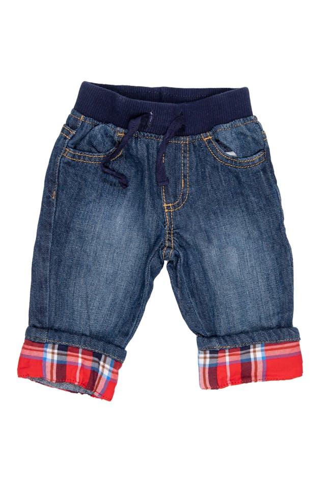 Jean delgado con cintura de Rib y bota a cuadros. 100% algodón - Gymboree foto 1