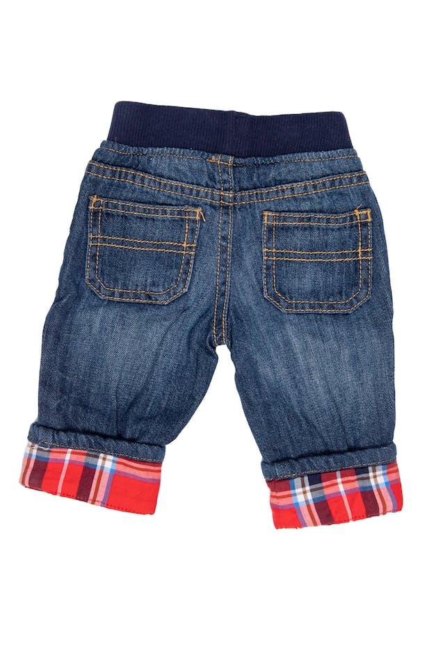 Jean delgado con cintura de Rib y bota a cuadros. 100% algodón - Gymboree foto 2