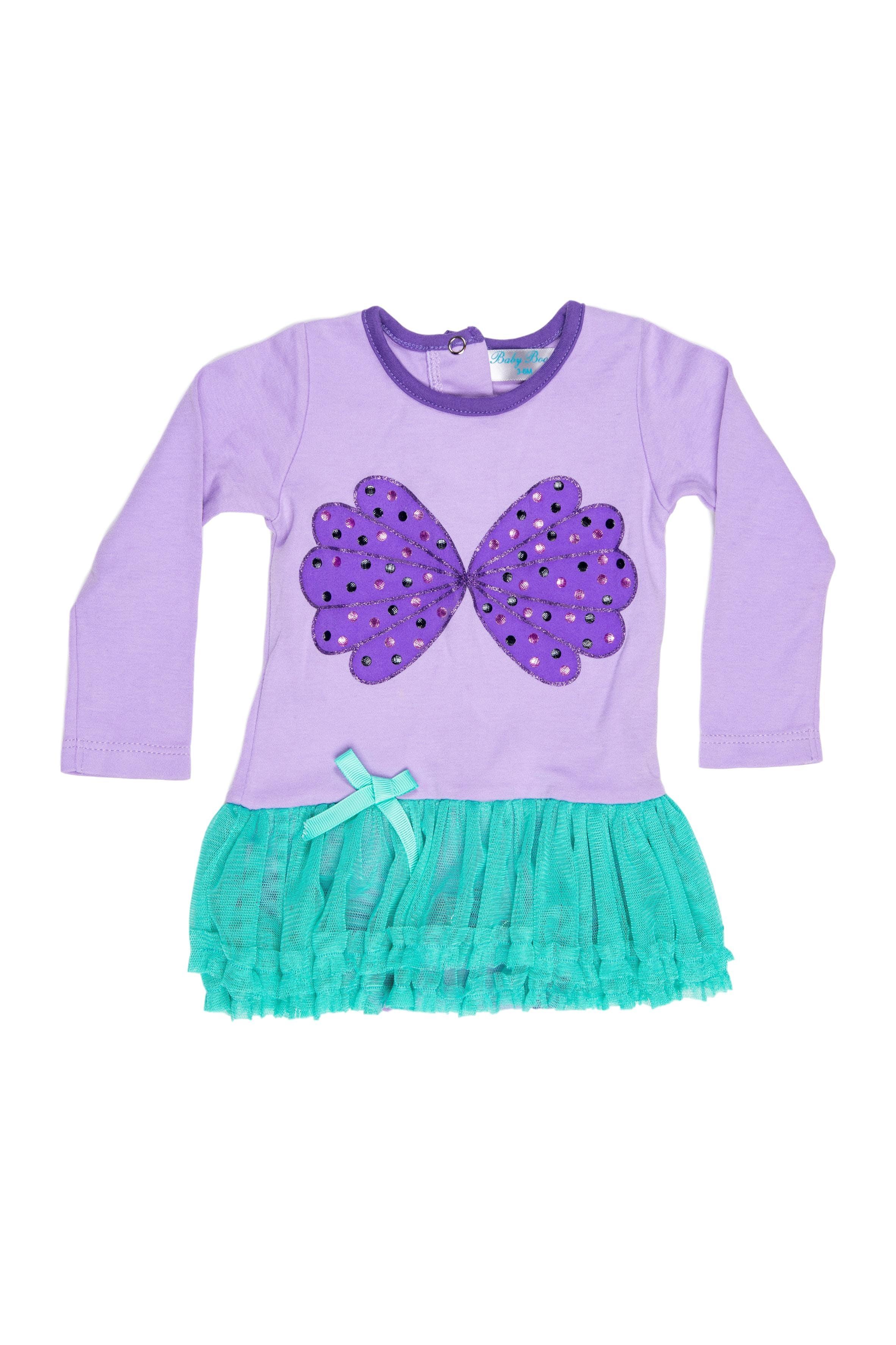 Vestido - body morado de mariposa con tutu verde - Baby Boom