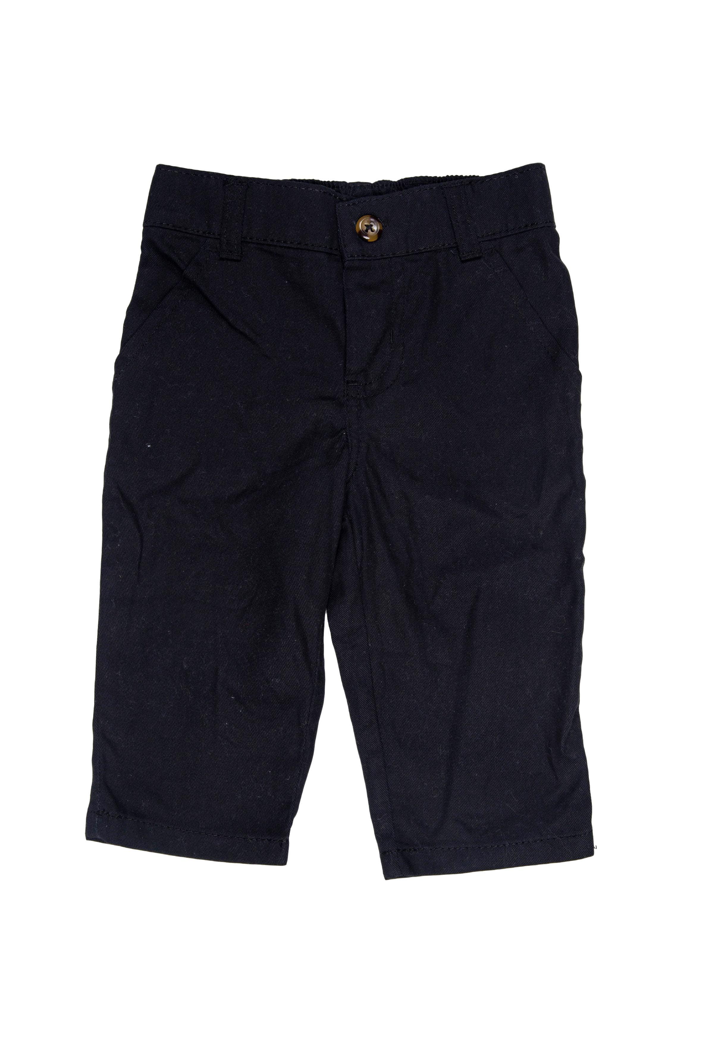pantalon negro contira elástica 100% algodón - Carter's