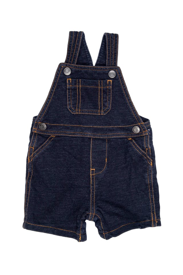 Overall short de jean con tiras regulables - Carter's foto 1