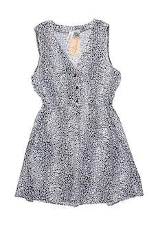 Vestido vintage escote en V con botones, elástico en la cintura y falda con bolsillos. Largo 82cm foto 1