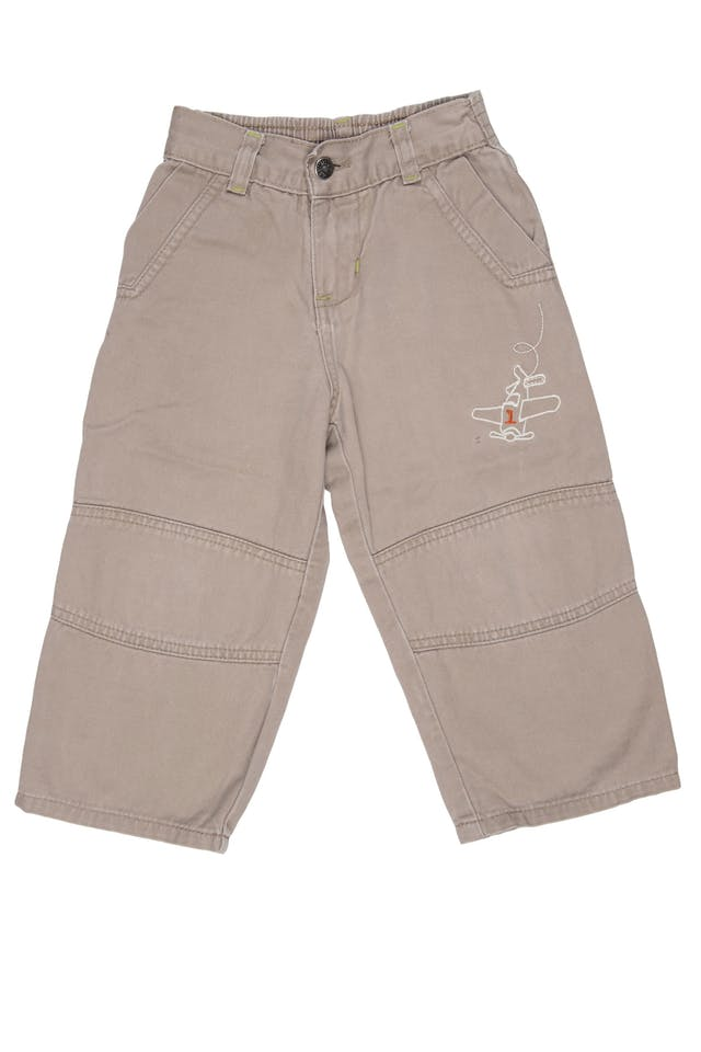 Pantalon drill pierna ancho 100% algodón - Little Step foto 1