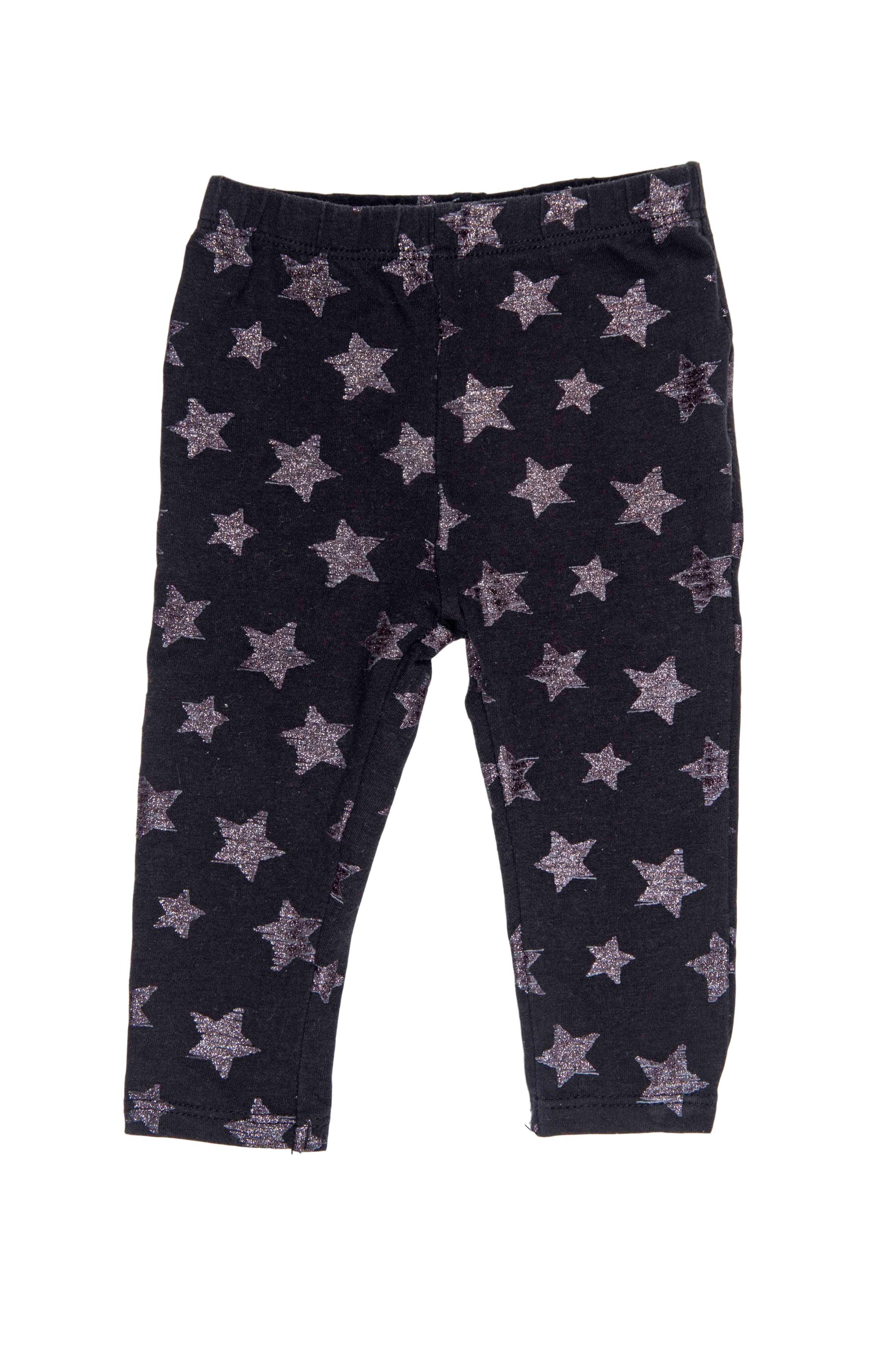 Legging negro coon estrellas plateadas - Quiltex