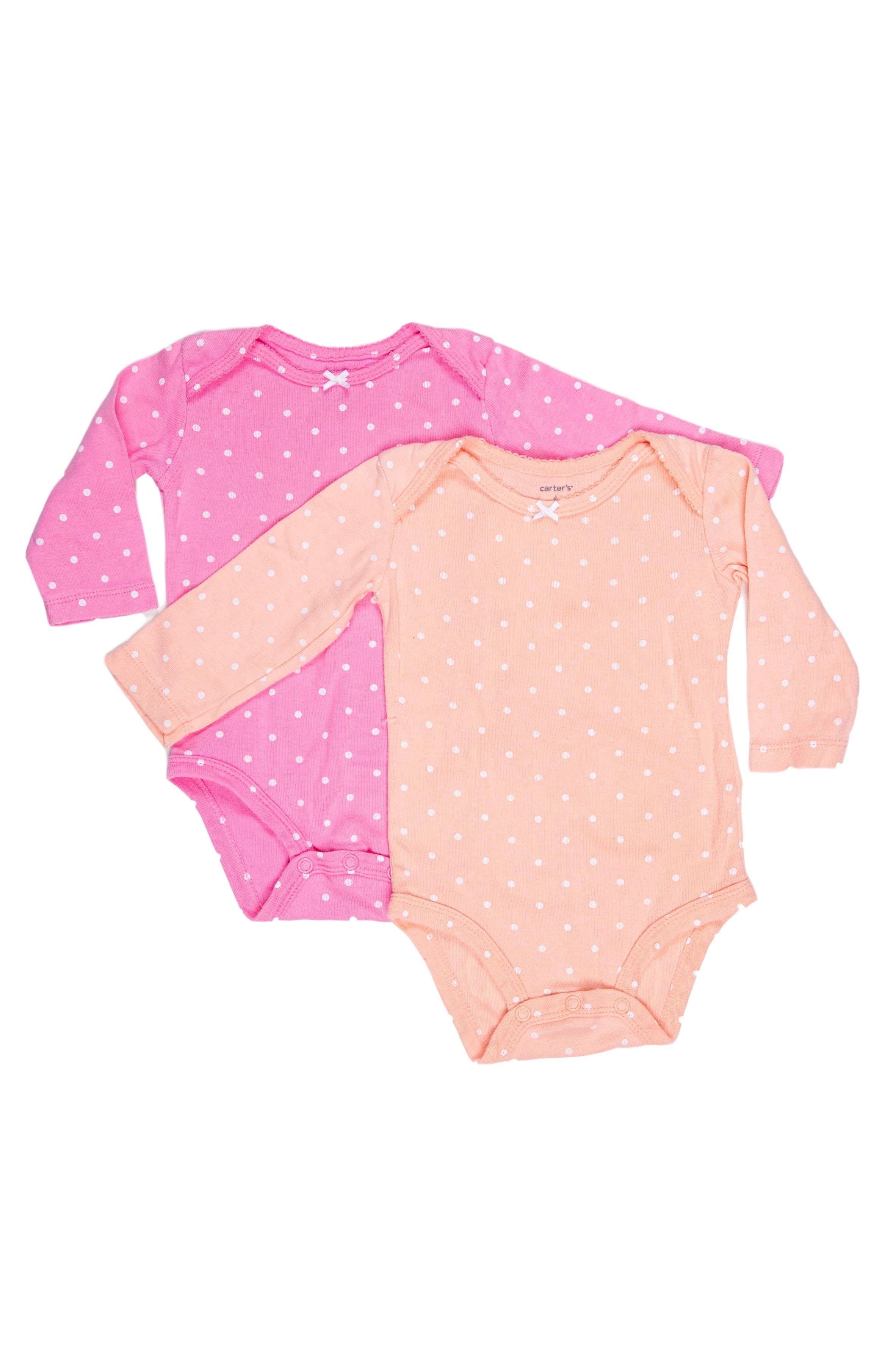 Melón y rosado con puntos blancos 100% algodón - Carter's