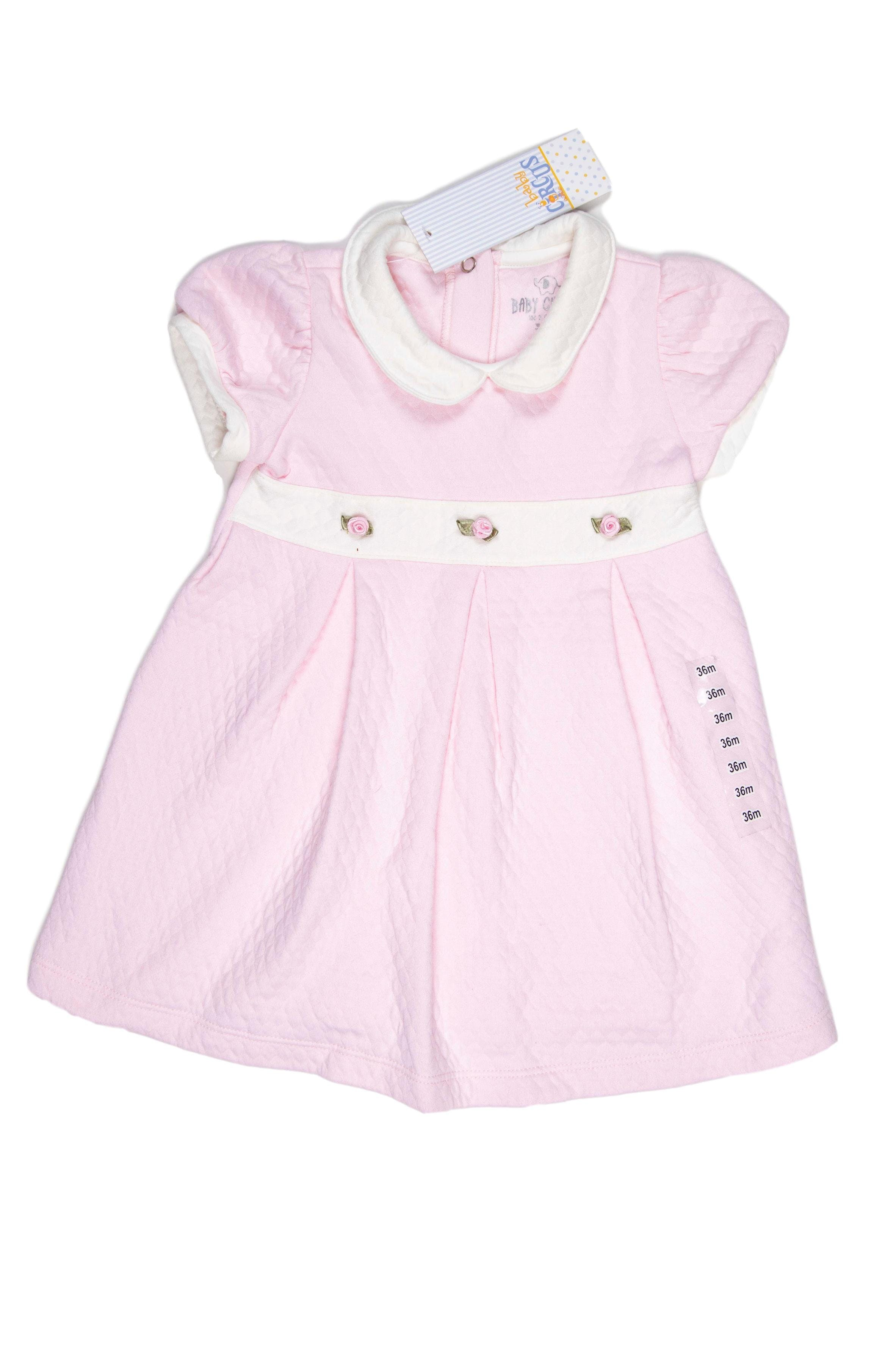 Vestido rosado algodón jacquard grueso - Circus