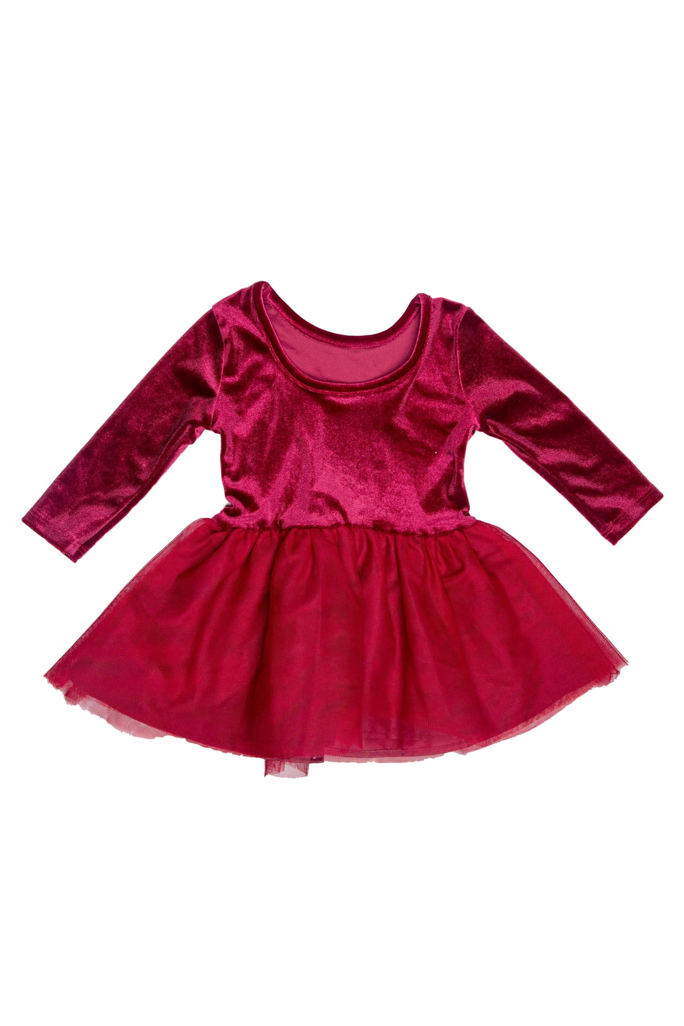 vestido terciopelo guinda con tutu. Talla en etiqueta 12 - 18 pero es corto, puede dar desde 9 meses - Old Navy