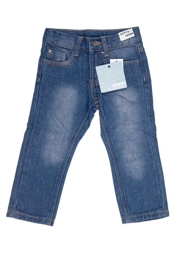 jean azul focalizado basic fit 75% algodón - Yamp foto 1