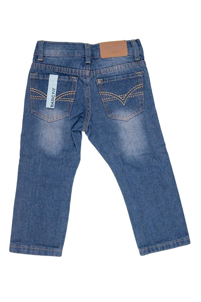 jean azul focalizado basic fit 75% algodón - Yamp foto 2