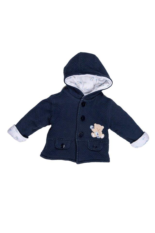 Saquito algodón acolchado azul, con forro 100% algodón - Baby Club Chic foto 1
