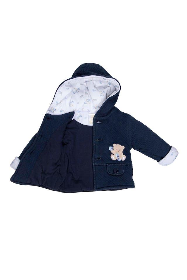 Saquito algodón acolchado azul, con forro 100% algodón - Baby Club Chic foto 2
