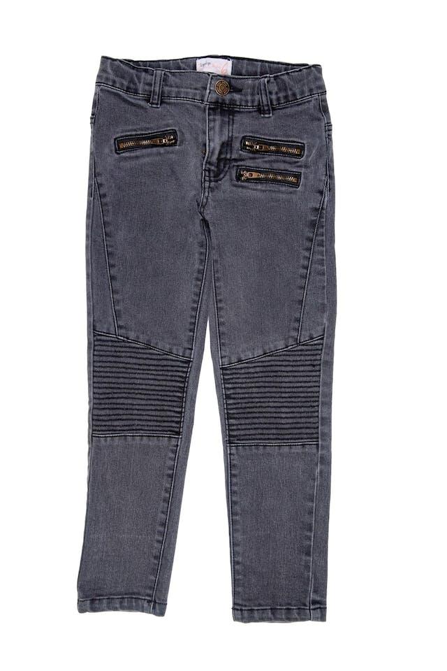 Pantalón jean gris pitillo - Topitop foto 1
