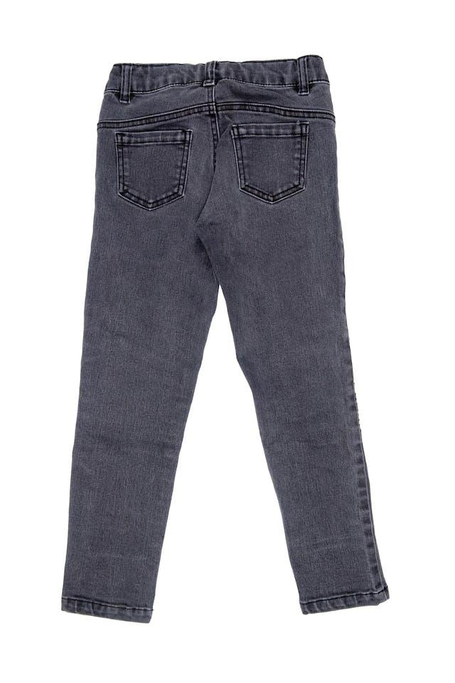 Pantalón jean gris pitillo - Topitop foto 2