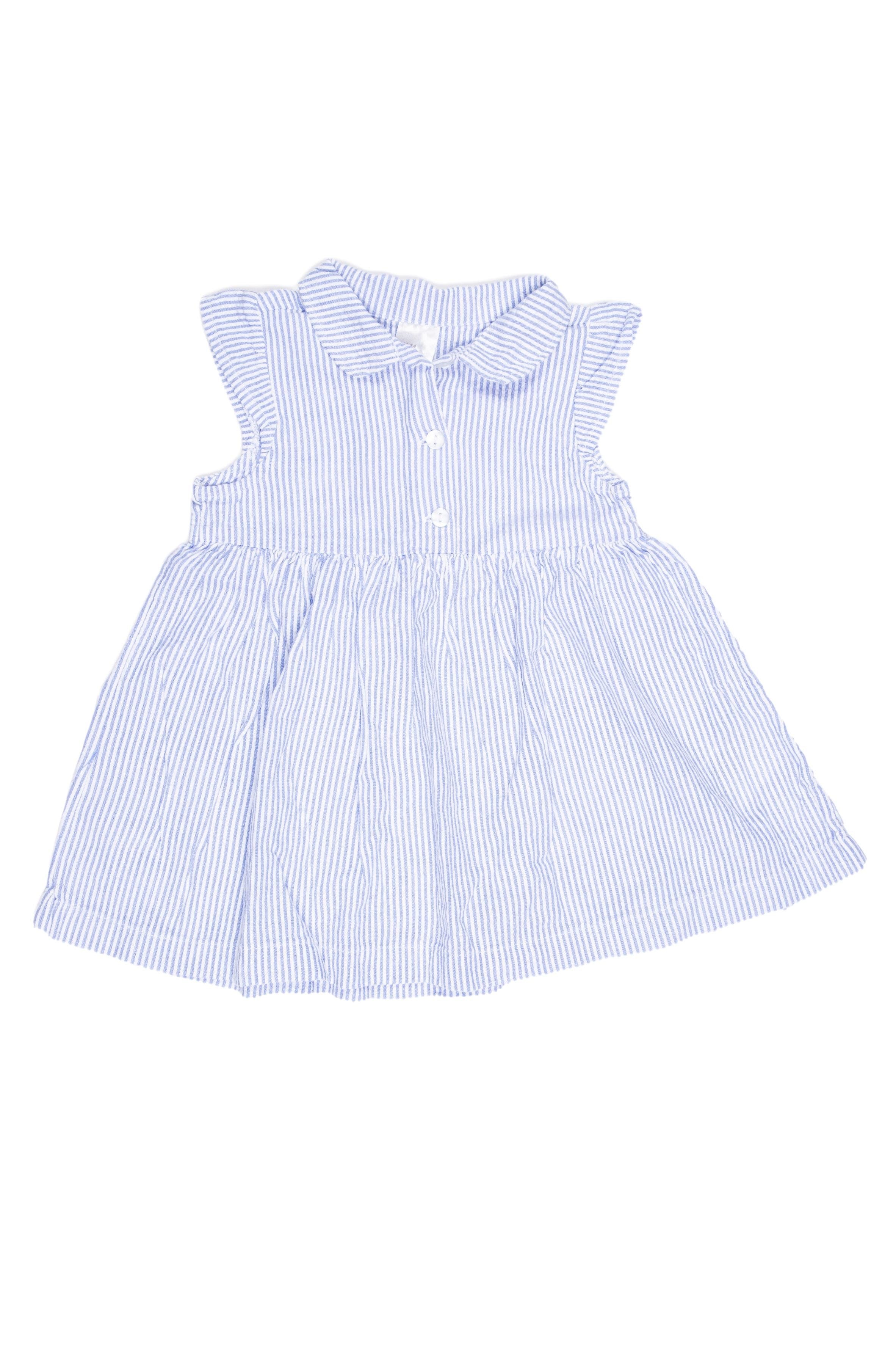 Vestido azul a rayas 100% algodón - H & M