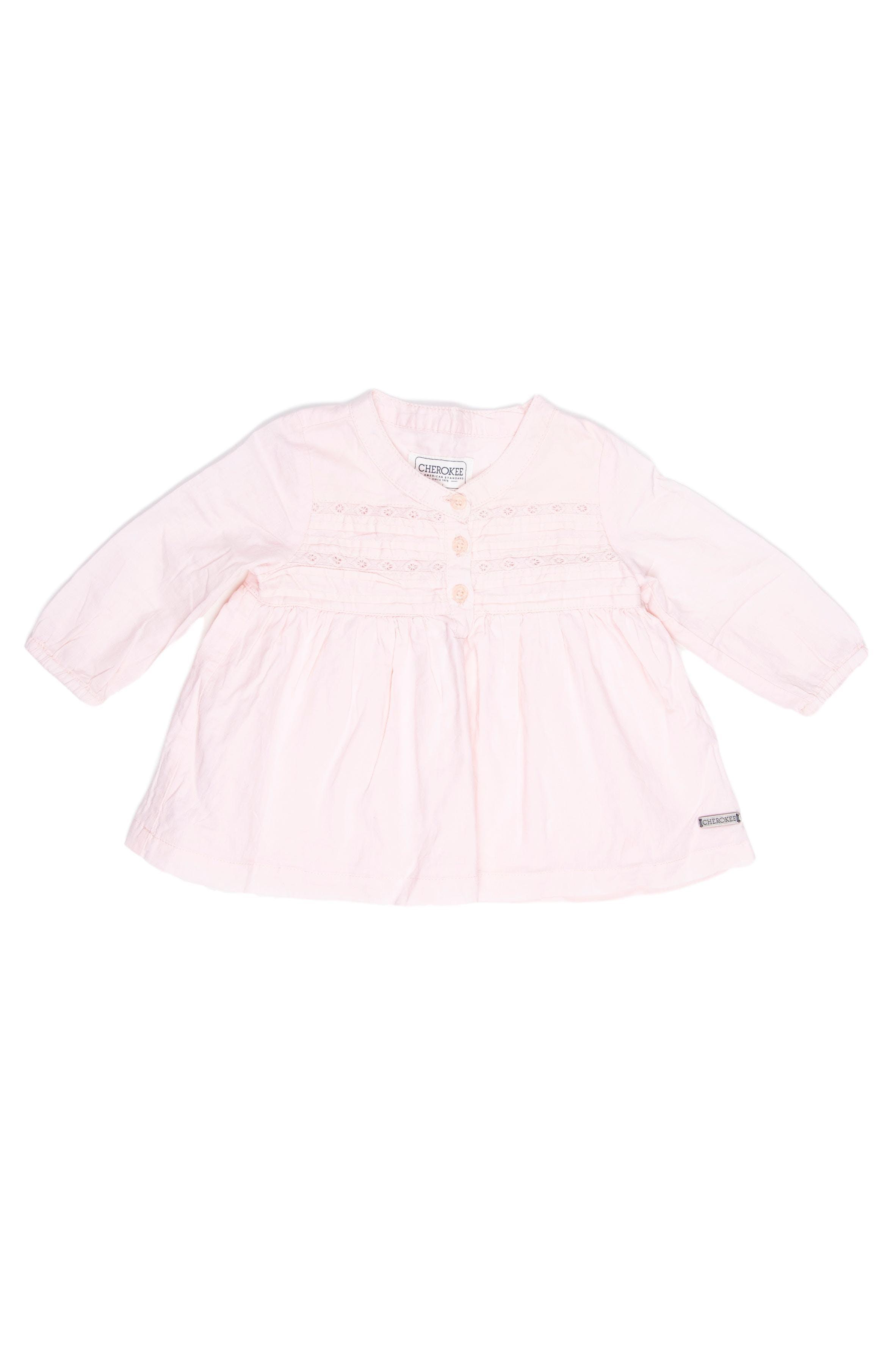 Camisa rosada pliegues en el pecho y botones - Cherokee