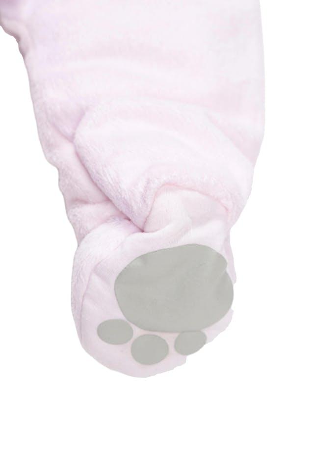 Enterizo con pies rosado de peluche forrado y con relleno. Super abrigador - Yamp foto 2