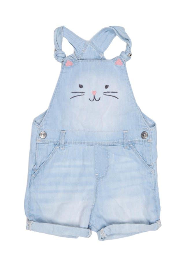 overol short de jean con conejo, tiras ajustables.100% algodón. - H & M foto 1