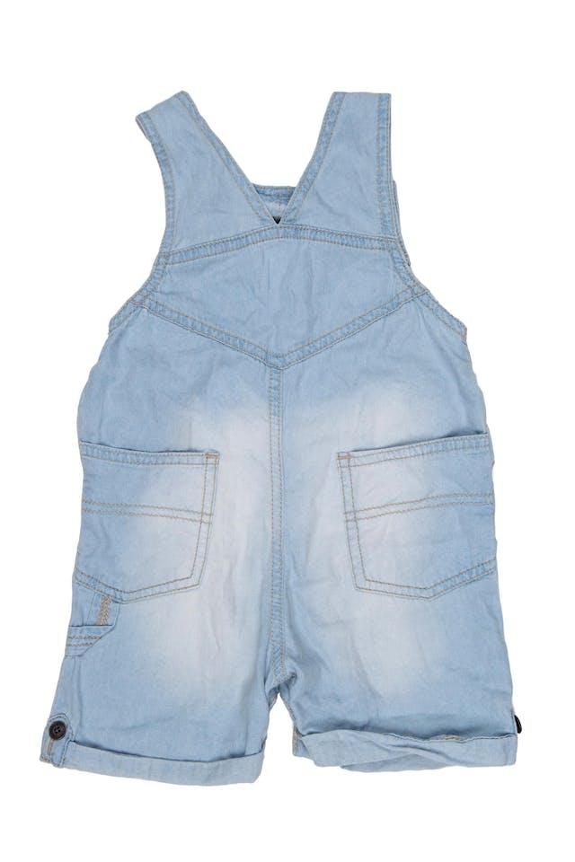 overall short de jean delgado. Tiras ajustables. 100% algodón. - Cherokee foto 2