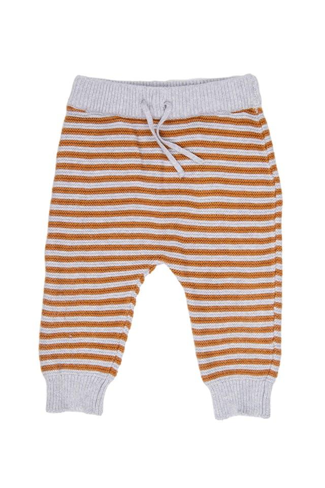 Conjunto tejido pantalón gris con rayas y chompa con mapache. 100% algodon. - Carter's foto 3
