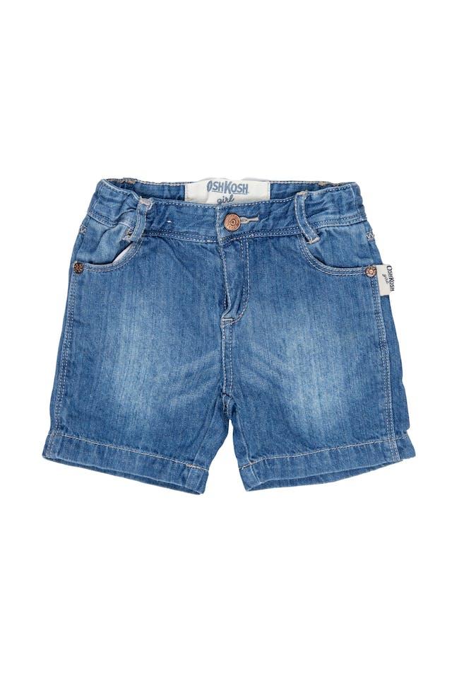 Short de jean delgado, cintura ajustable, 100% algodón - OshKosh foto 1