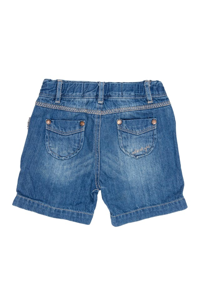Short de jean delgado, cintura ajustable, 100% algodón - OshKosh foto 2