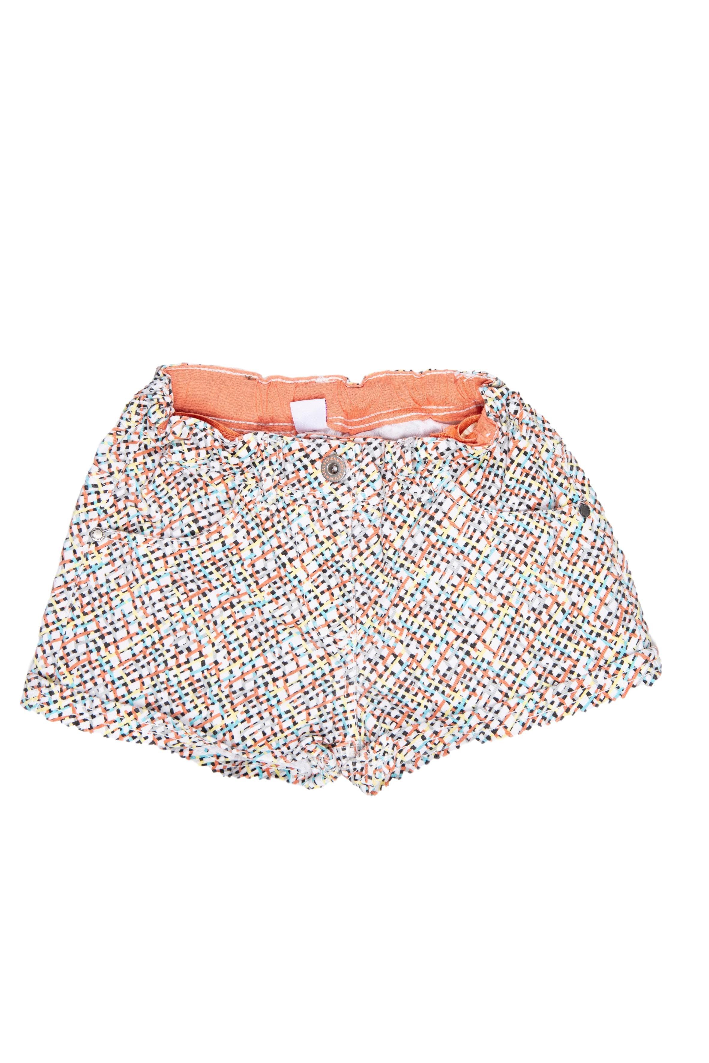Short de tela rayada con cintura regulable, 98% algodón y 2% elastane - Yamp