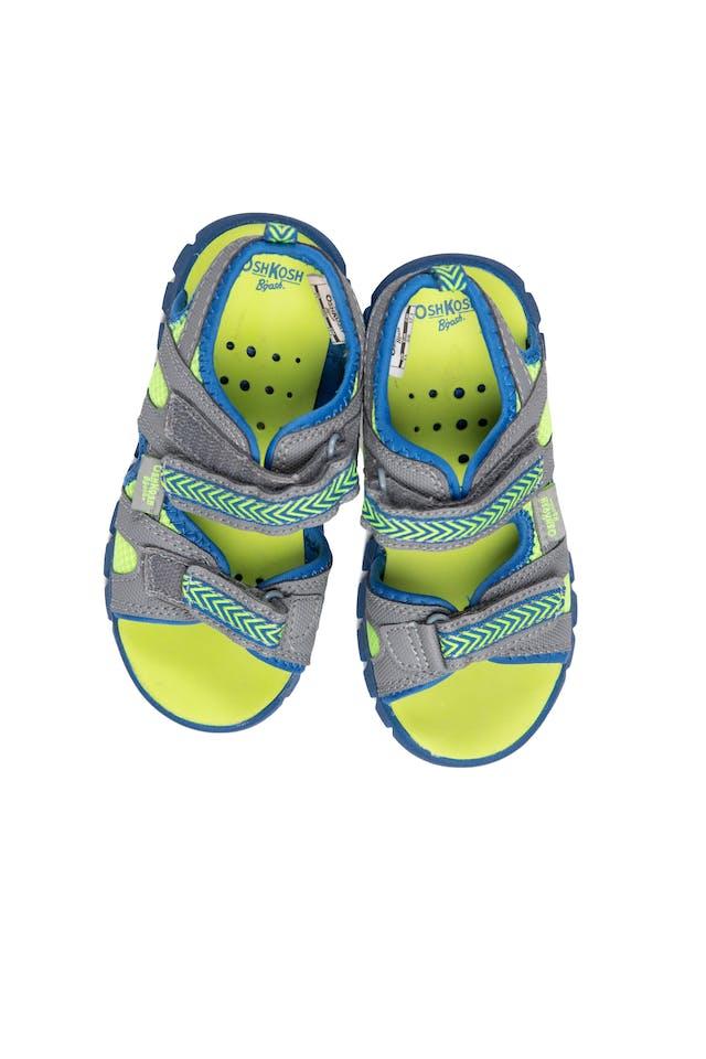 Sandalias verde limon con azul cierran con pega pega - OshKosh foto 1