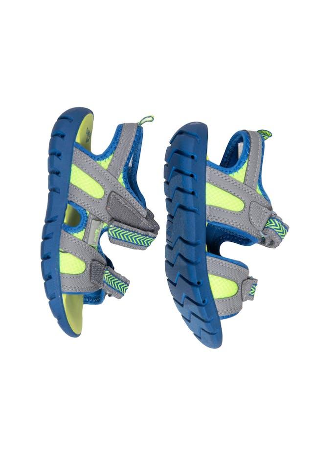 Sandalias verde limon con azul cierran con pega pega - OshKosh foto 2