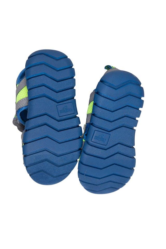 Sandalias verde limon con azul cierran con pega pega - OshKosh foto 3