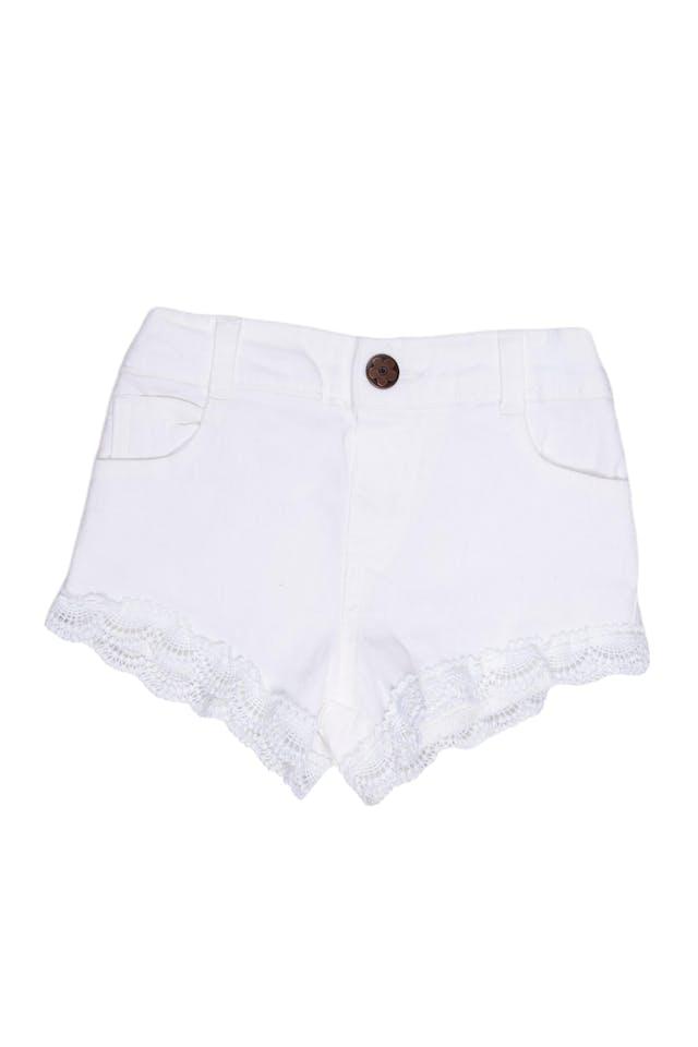 Short de color blanco 98% algodón, 2% spandex - Garanimals foto 1