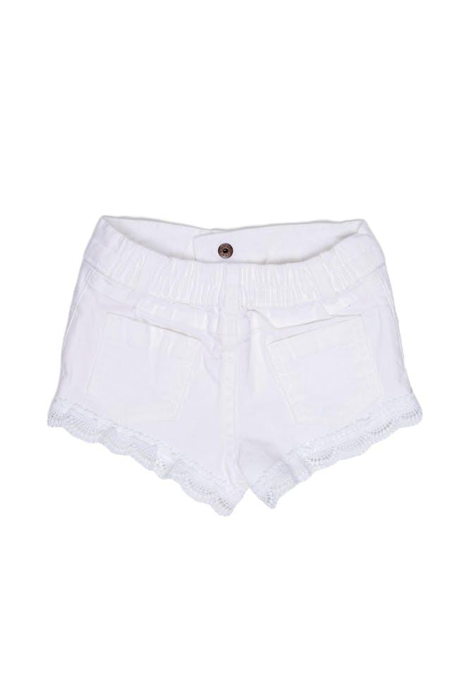 Short de color blanco 98% algodón, 2% spandex - Garanimals foto 2