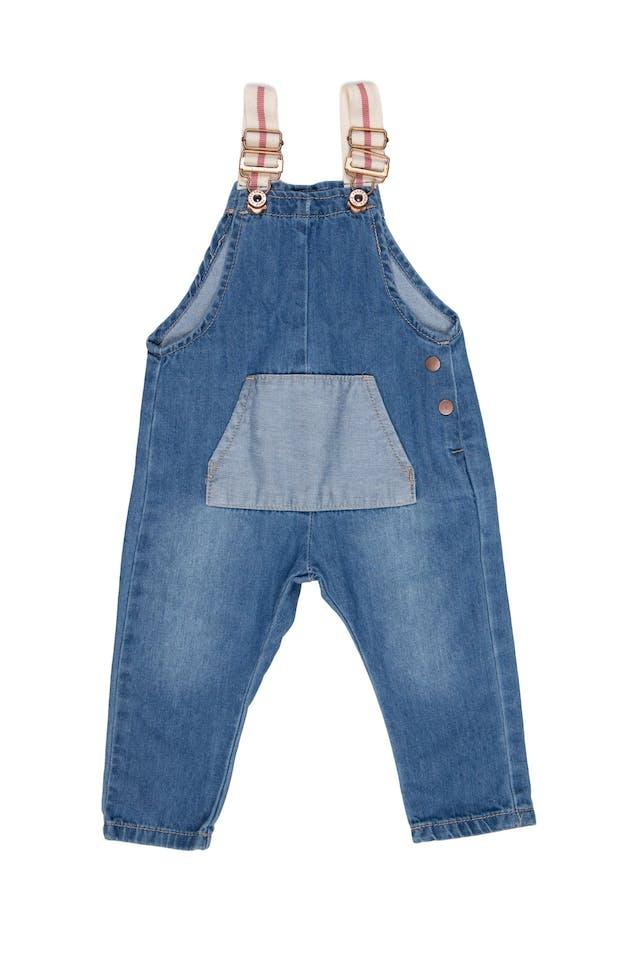Overol jean, tiras ajustables, 100% algodón - Yamp! foto 1