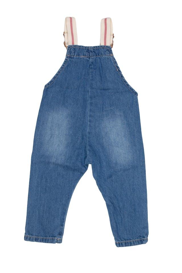 Overol jean, tiras ajustables, 100% algodón - Yamp! foto 2