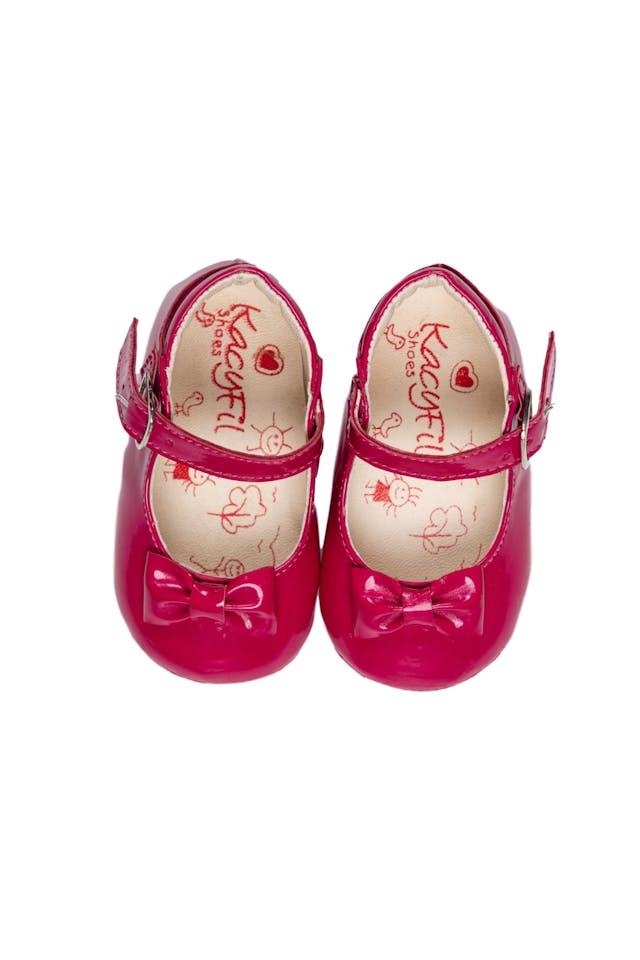 Zapato de Charol fucsia, silicona antideslizante en la planta. Talla 12 o 17 - Kacyfil foto 1