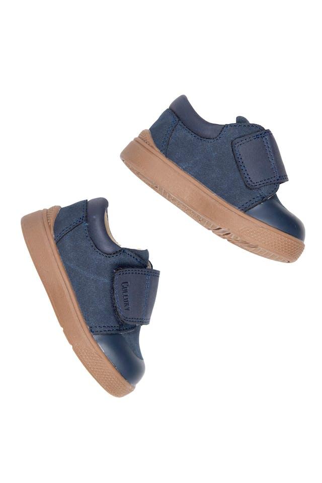 Zapatos de cuero primeros pasos azules con velcro. talla 3.5 americana, 20 europea - Colloky foto 2