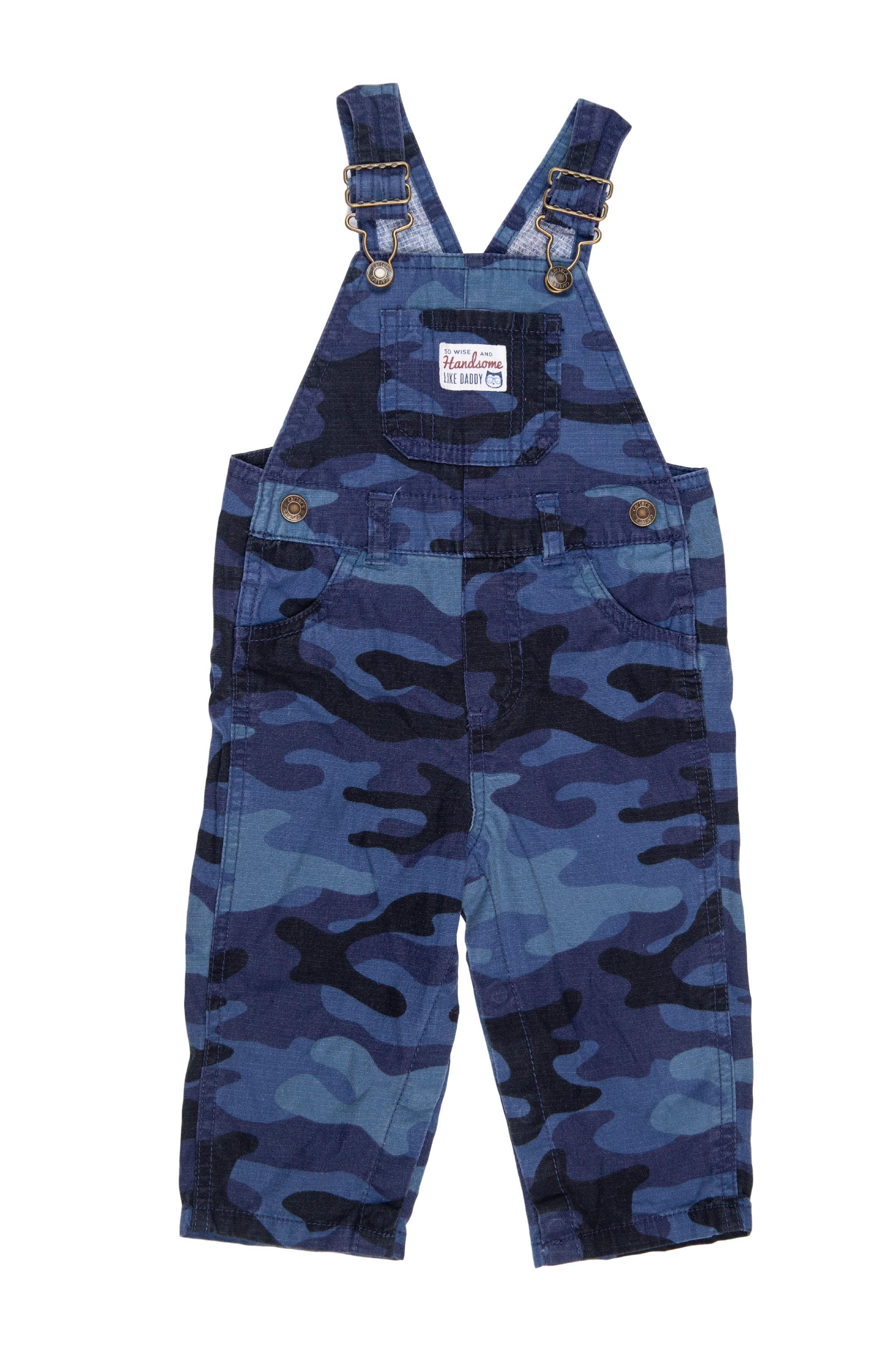 Overall azul camuflado 100% algodón - Carter's