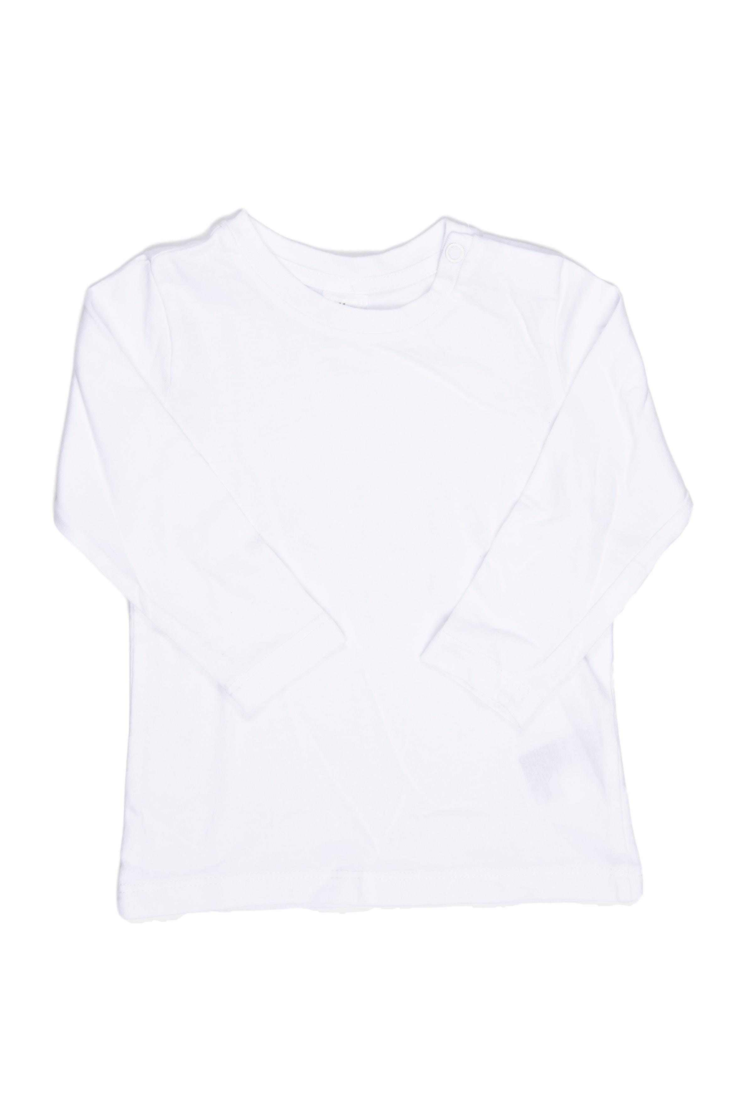 Polo blanco basico manga larga 100% algodón - H & M
