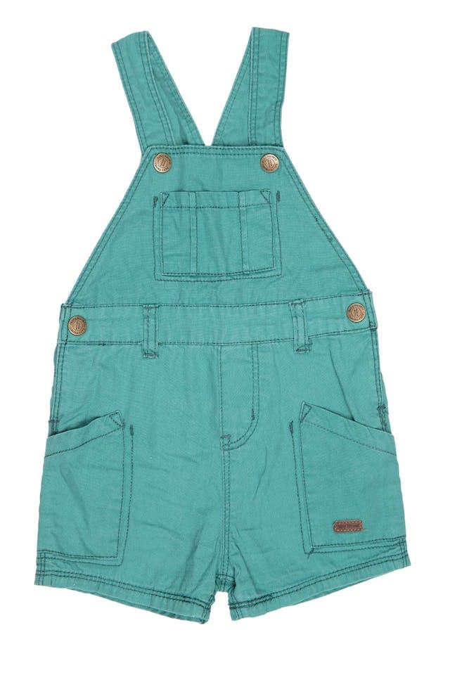Overall short verde 100% algodón - Harvest foto 1