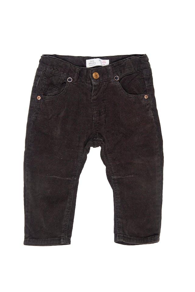 Pantalón de corduroydelgado marron con tirantes, cintura regulable - Zara foto 1