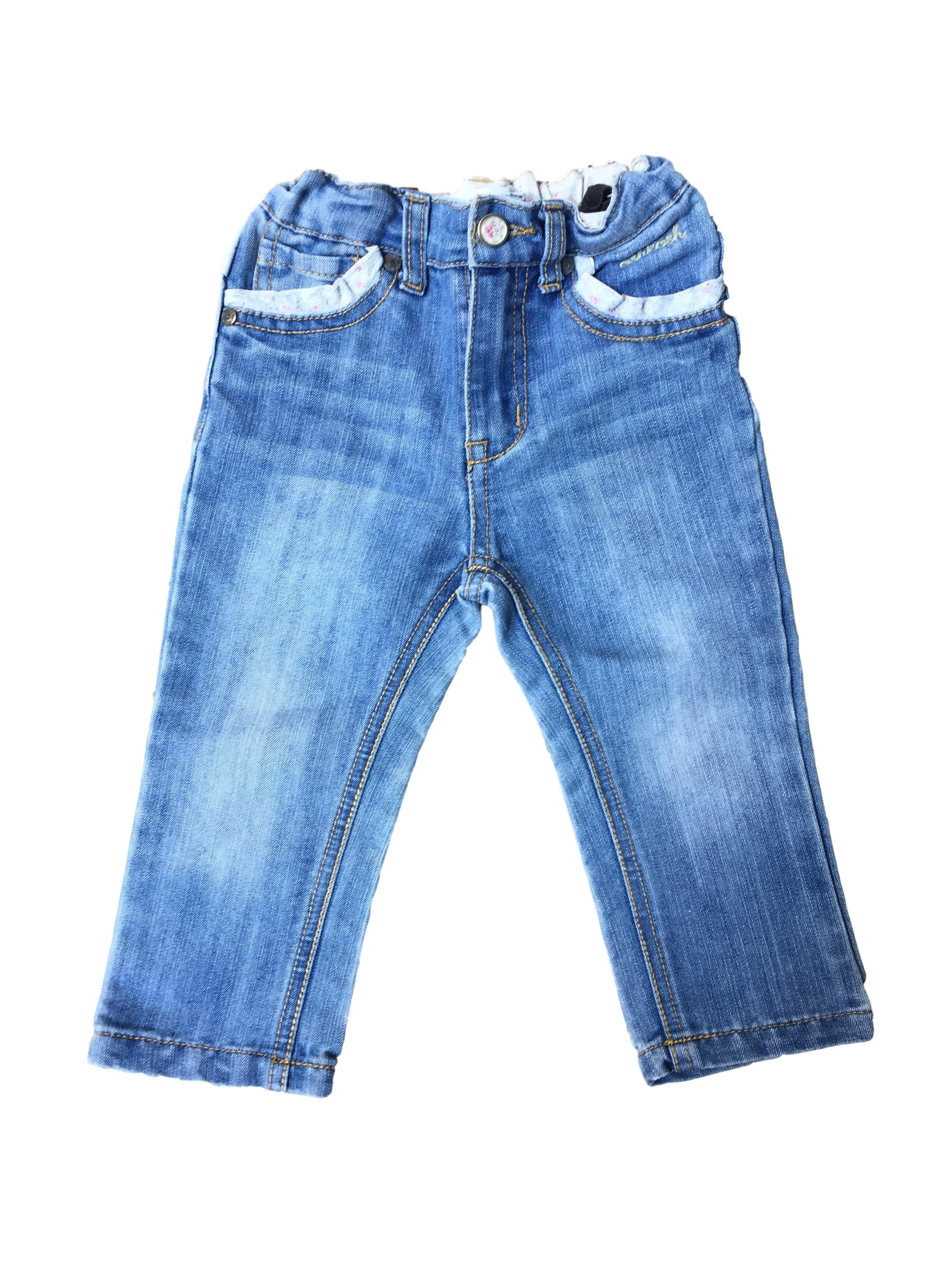 Jean con cintura regulable ribete en bolsillos 100% algodón - OshKosh