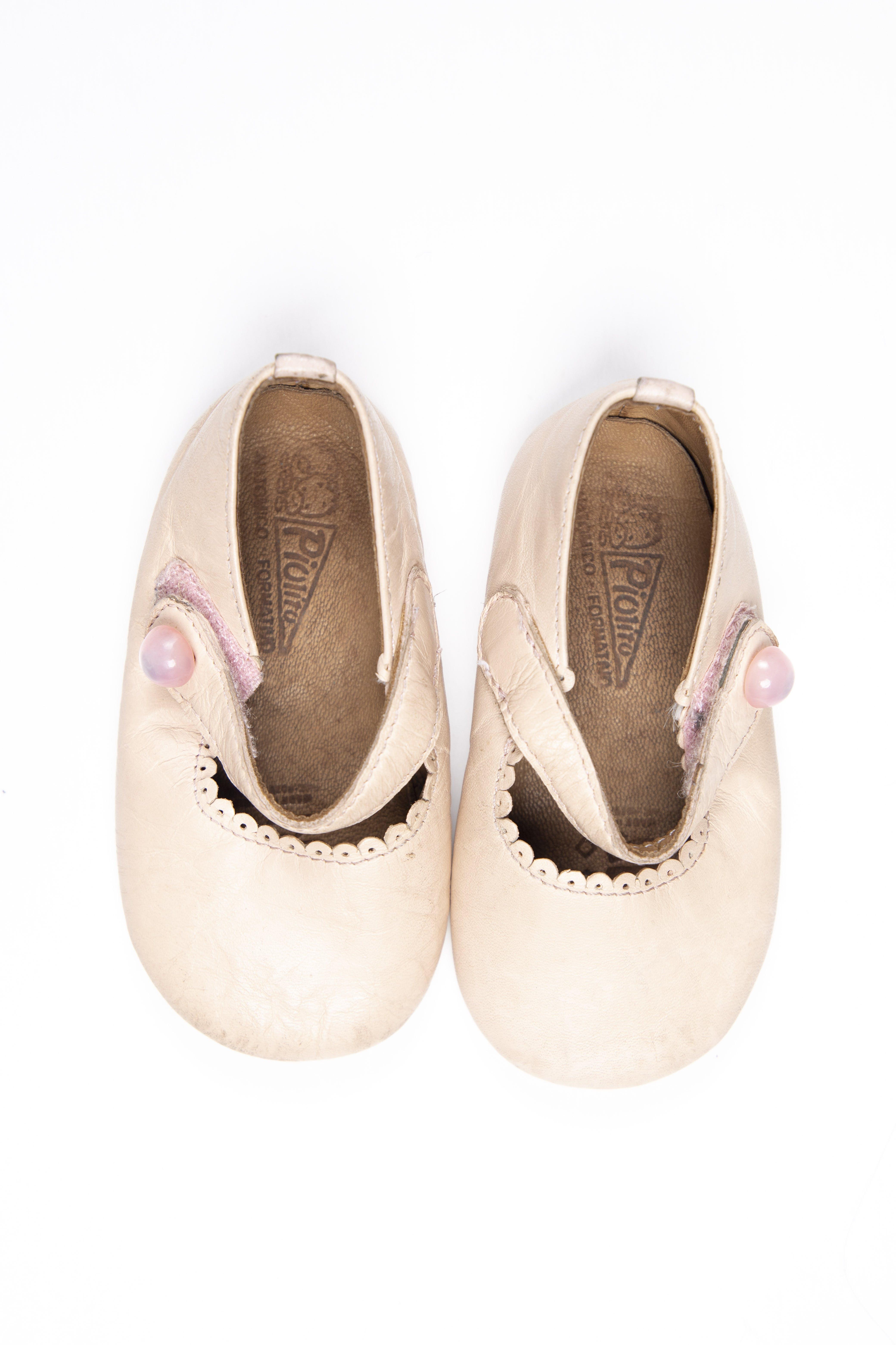 Balerinas de cuero tipo mocs. Suela flexible - Baby Piolito