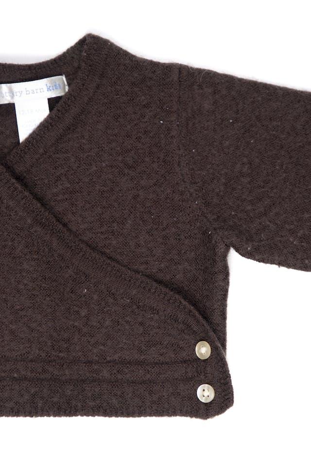 Bolero de lana marrón cruzado 60% lana, grueso - Pottery Barn foto 2