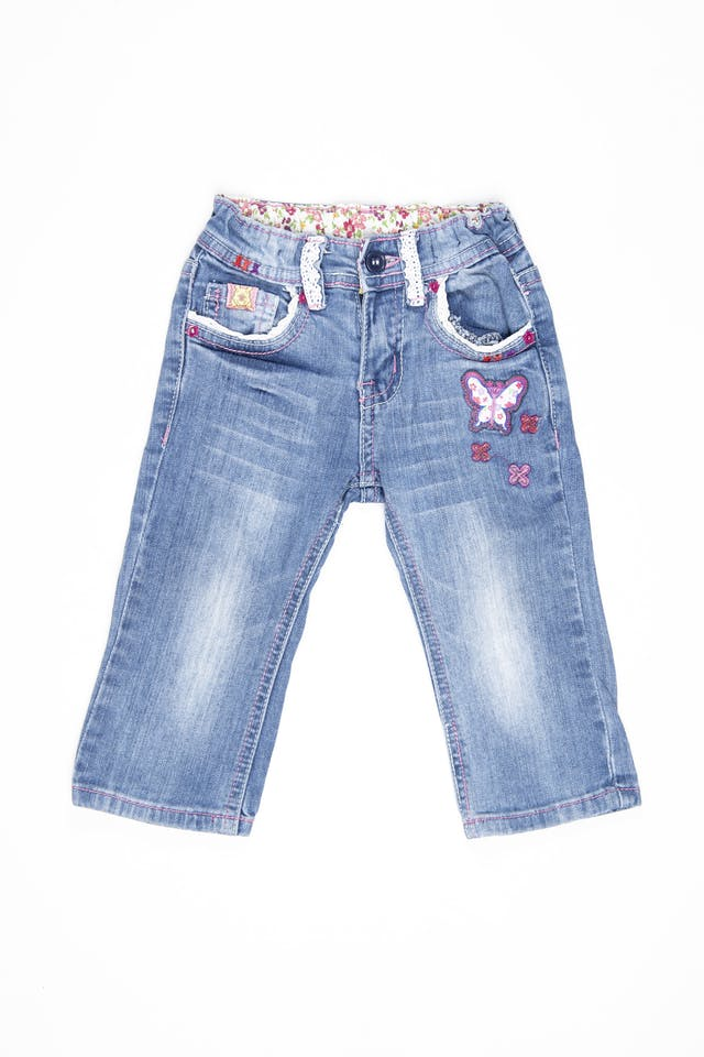 Jean winnie de Pooh, cintura regulable  98% algodón. Talla 1 americana - Disney foto 1
