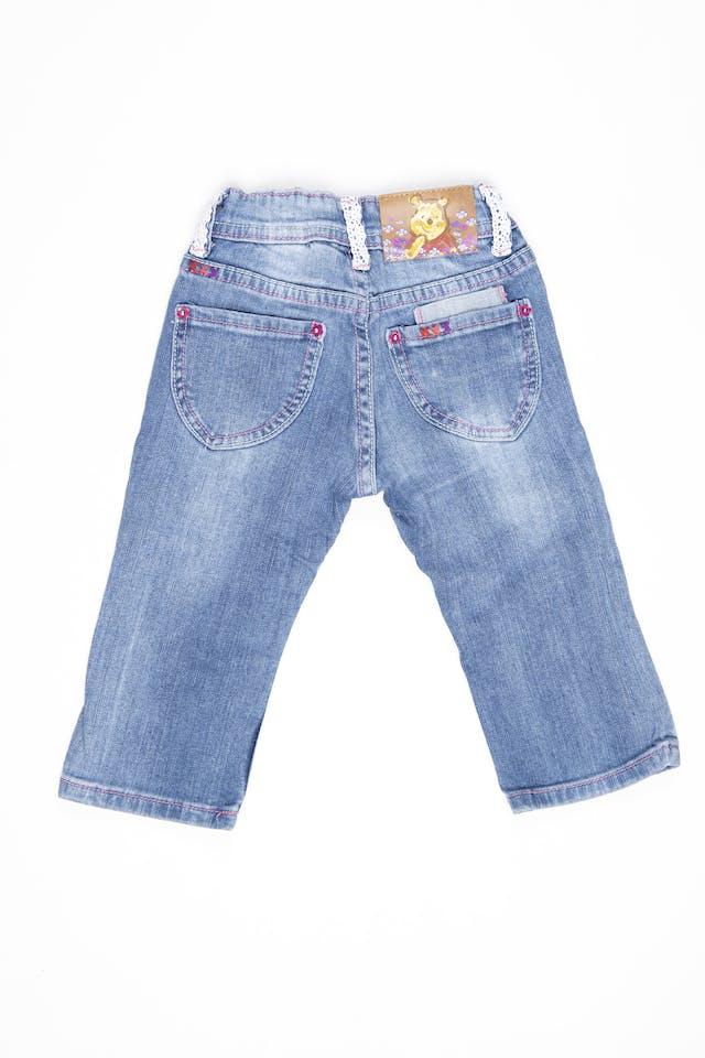 Jean winnie de Pooh, cintura regulable  98% algodón. Talla 1 americana - Disney foto 2